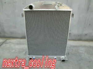 For Aluminum Radiator 1932 Ford Hi Boy Grill Shells Chevy Engine 32 3 Row