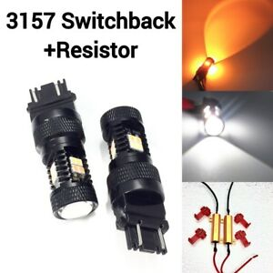 Front Signal Drl Switchback Led White Amber T25 3157 Ck 3057 4157 K1 For Dodge A