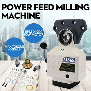 Al 310s X axis Power Feed Milling Machine 0 200rpm 5 8 Shaft Variable Speeds