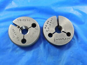 1 2 13 Nc 1 Thread Ring Gage 5 Go No Go Pd 4500 4399 Free Shipping Tool