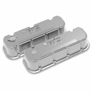 Holley 241 151 Polished Tall Finned M T Valve Covers For Big Block Chevy Engines