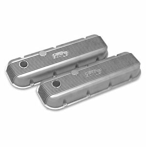 Holley 241 300 Natural Vintage Series Finned Valve Covers For Big Block Chevy