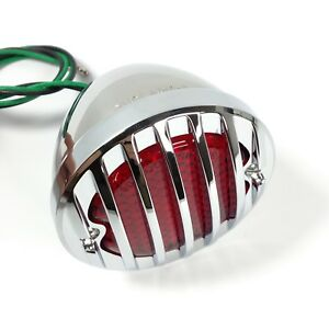 1933 36 Ford Car Led Tail Light Rh Chrome Metal Grille Bezel 12v Right