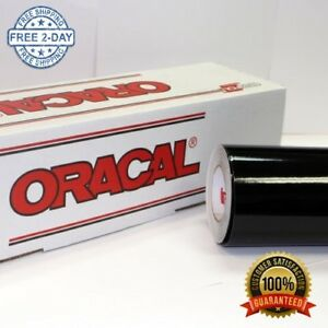Oracal 651 Glossy Vinyl Roll 24 X 30 Ft On 3 Inch Core Black Industrial Use