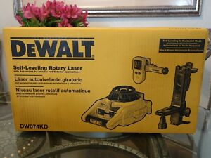 Dewalt Dw074kd Self leveling Interior Exterior Rotary Laser Level Tool Kit