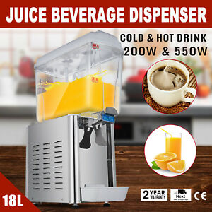 Cold And Hot Commercial Juice Beverage Dispenser 18l Drink Fruit Ice Tea