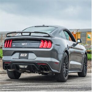 Borla 140742bc Dual Split Rear Exit Cat back Exhaust W black Tips For Mustang Gt