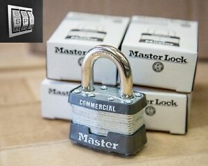 Master Lock No 1 Laminated Steel Pin Tumbler Padlock Keyed Alike set Of 4