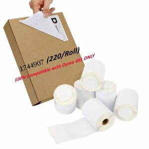 Dymo 4xl 220 Direct Thermal Shipping Labels 4x6 1744907 Labelwriter Compatible