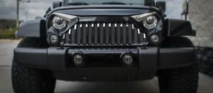 Front Lower Grille Bars for 07 18 Jeep Wrangler Jk With Gladiator Grille