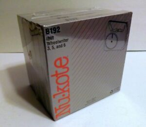 Nukote B192 Replacement Ribbon For Ibm Wheelwriter 3 5 And 6 New Sealed 6 Pack