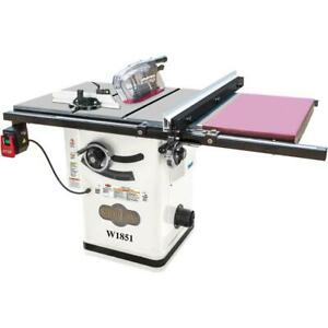 Shop Fox W1851 2 Hp 10 inch Hybrid Cabinet Table Saw With Extension Table