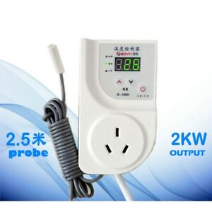 220v Digital Fridge Freezer Thermostat Aquarium Temperature Controller Socket
