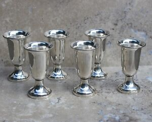 Set Of 6 Sterling Silver Cordials Made By Fisher Weighted Good Condition