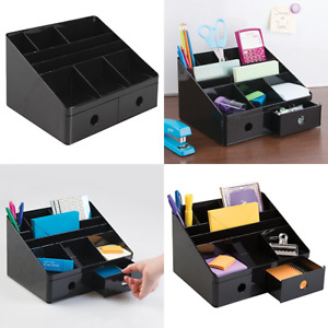 Interdesign Office Supplies Desk Organizer W Drawers For Pens Markers Highlighte