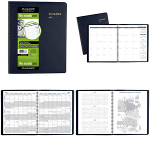 At A Glance Monthly Planner appointment Book 2017 15 Months 9 X 11 Navy 7026020