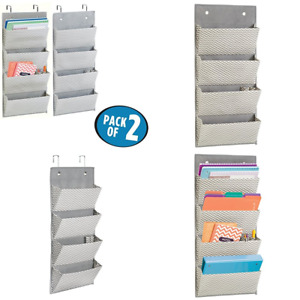 Mdesign Hanging Fabric Office Supplies Storage Organizer For Notebooks Planners