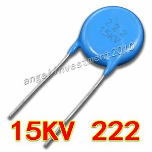 New High Voltage Ceramic Capacitor 15kv222 15000v 0 0022 f 2 2nf 2200pf