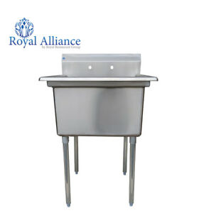 Stainless Steel Utility Sink For Commercial Kitchen 23 5 Free Shipping
