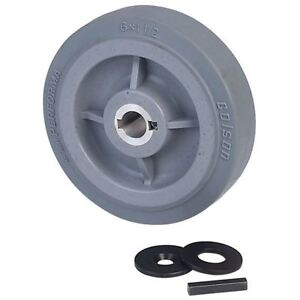 Ampflow 6 High traction Drive Wheels With 3 4 Keyed Hubs