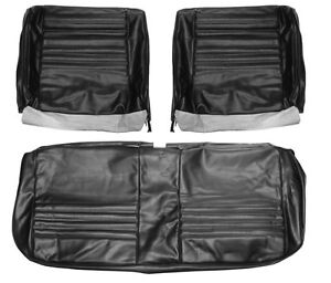1967 Chevelle Ss396 Supersport Bench Seat Covers Black Pui 67as10b In Stock
