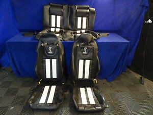 White Recaro Racing Seats Mustang Shelby Gt500 Leather Seat Covers Cobra Coupe
