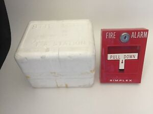 new Simplex 4251 31 Fire Alarm Pull Station For Break Glass W box
