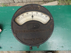 Large Vintage Antique Weston Electrical Meter Instrument Model 24 Es7a pat 01