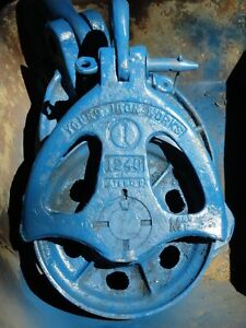 Young Iron Works 12 Steel Cable Logging Crane Block Pulley 1240