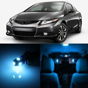 8 X Ice Blue Led Lights Interior Package For Honda Civic 2013 2018 Pry Tool