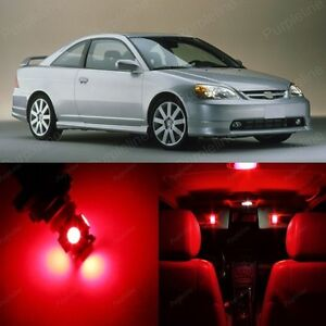 8 X Red Led Lights Interior Package For Honda Civic 2001 2005 Pry Tool