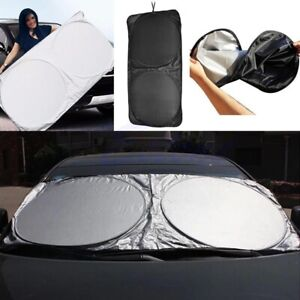 New Folding Jumbo Front Car Window Sun Shade Auto Visor Windshield Block Cover