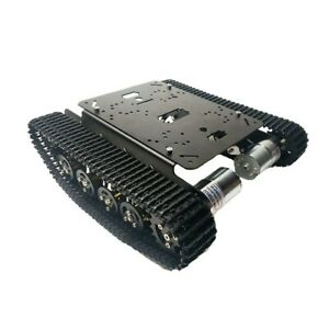 Ts100 Metal Rc Robot Tank Chassis Shock Absorption Car 12v 330rp For Arduino Diy