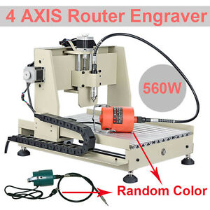 4 Axis Cnc 3040 Router Engraver Milling Drilling Carver Machine 560w Cutter Art