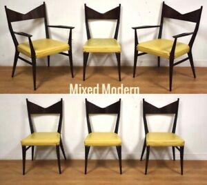6 Paul Mccobb For Calvin Dining Chairs Mid Century Modern Directional Mahogany