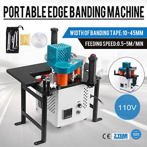 Woodworking Portable Edge Banding Machine Straight 0 3 3mm Thick Wood Working