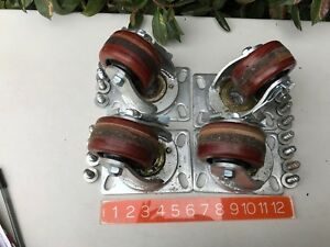 36 Lbs Articulating Swivel Industrial Wheel Casters 15 Quality Vintage Set Of 4