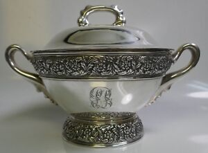 Rare Circa 1880 S Antique Tiffany Co Sterling 3 5 Pint Size Soup Tureen