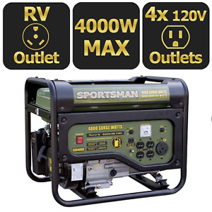 4000 Watt Gasoline Portable Generator New Gas Start Power Rv Emergency Inverter