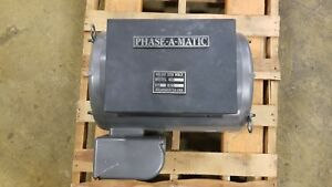 Phase Converter Rotary 25 Hp 208 230v Model R 25 new Condition 4 Hr s Run Time