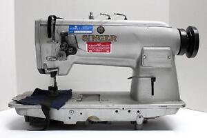 Singer 212a 2 needle Feed 3 4 Gauge Reverse Industrial Sewing Machine Head Only