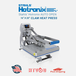 Stahls Hotronix Auto Open Clam Heat Press Stx20 120 16 X 20