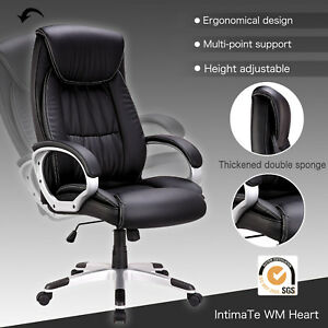 High Back Pu Leather Swivel Office Chair Executive Computer Desk Task Ergonomic