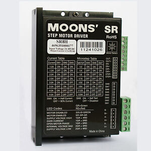 Sr8h Moons 2 Phase Stepper Motor Driver Controller 4 5a 24 75vdc Micro Step