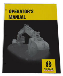 New Holland E135bsr Excavator Tier 3 Owners Manual Operators Maintenance Book