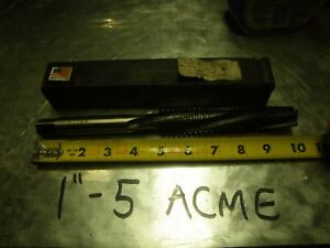 Long Hand Tap 1 X 5 Tpi Rh Taper Acme Lh Spiral Tandem 37304 Made In Usa