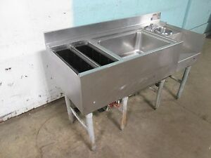 eagle Bm 50l 22b 7 Commercial 7 Circuits Cold Plate Ice bin Bartender Station
