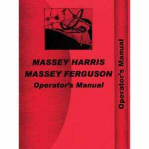 Operator s Manual 333d Massey Harris 333 333
