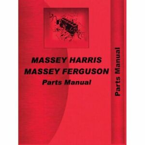 Parts Manual 555 Massey Harris 555 555