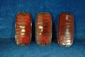1964 1965 1966 Chevrolet Van Taillight Lens With Bowtie 3 Used
